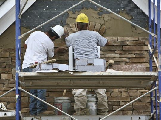Being a brickmason is a physically demanding job.