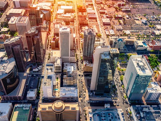 24/7 Wall St. reviewed U.S. Census Bureau data on 382 metro areas from 2010 to 2018 to identify the fastest growing city in each state.