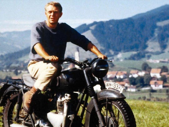 "Steve McQueen appearing in ""The Great Escape."""