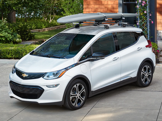 4. Chevrolet Bolt EV     • Fuel (or energy) efficiency:  119 MPGe     • Type:  Electric subcompact car     • Annual fuel cost:  $550     The Bolt is an unlikely winner for Chevrolet's parent company, General Motors, which generally relies on its lineup of big SUVs and pickup trucks. The vehicle has received positive reviews for its handling and spaciousness, as well as its 238-mile range on a fully charged battery. Starting at about $36,600 before any available tax credits, the Bolt costs less than the BMW i3 but more than a roomier but less fuel efficient Honda Clarity plug-in hybrid.