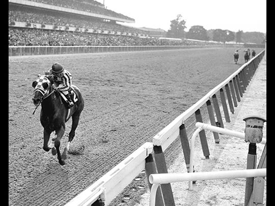 Secretariat, in 1973, became the first Triple Crown winner since 1948, with this 31-length win in the Belmont Stakes