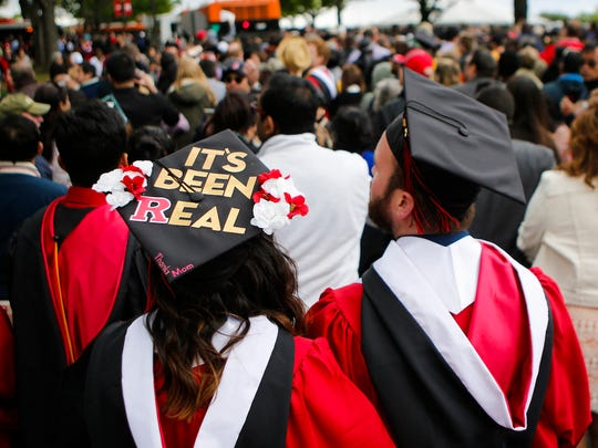 Graduates at the Rutgers University commencement in 2016