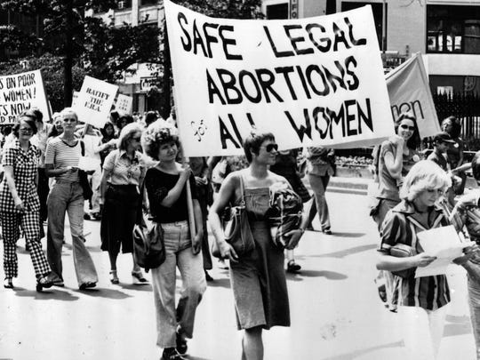 In the 1970s students at colleges across the country participated in marches for women's rights.