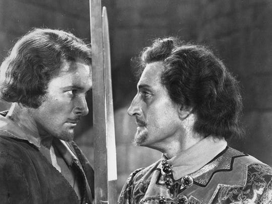 A scene from 'The Adventures of Robin Hood' starring Hollywood legend Errol Flynn. See the classic film Saturday at the Pensacola Saenger Theatre.