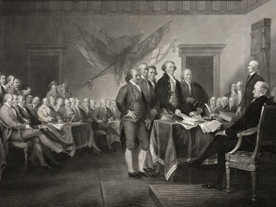 These are the 56 people who signed the Declaration of Independence