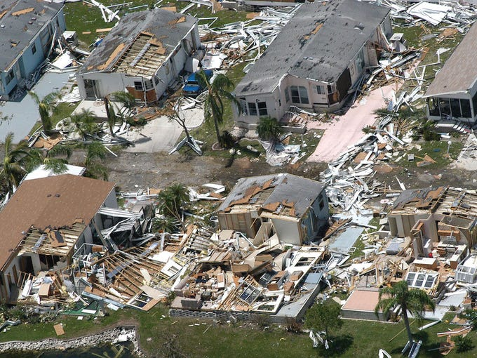 Hurricane Charley was the first of four hurricanes to  impact Florida within six weeks during the highly active 2004 hurricane season.