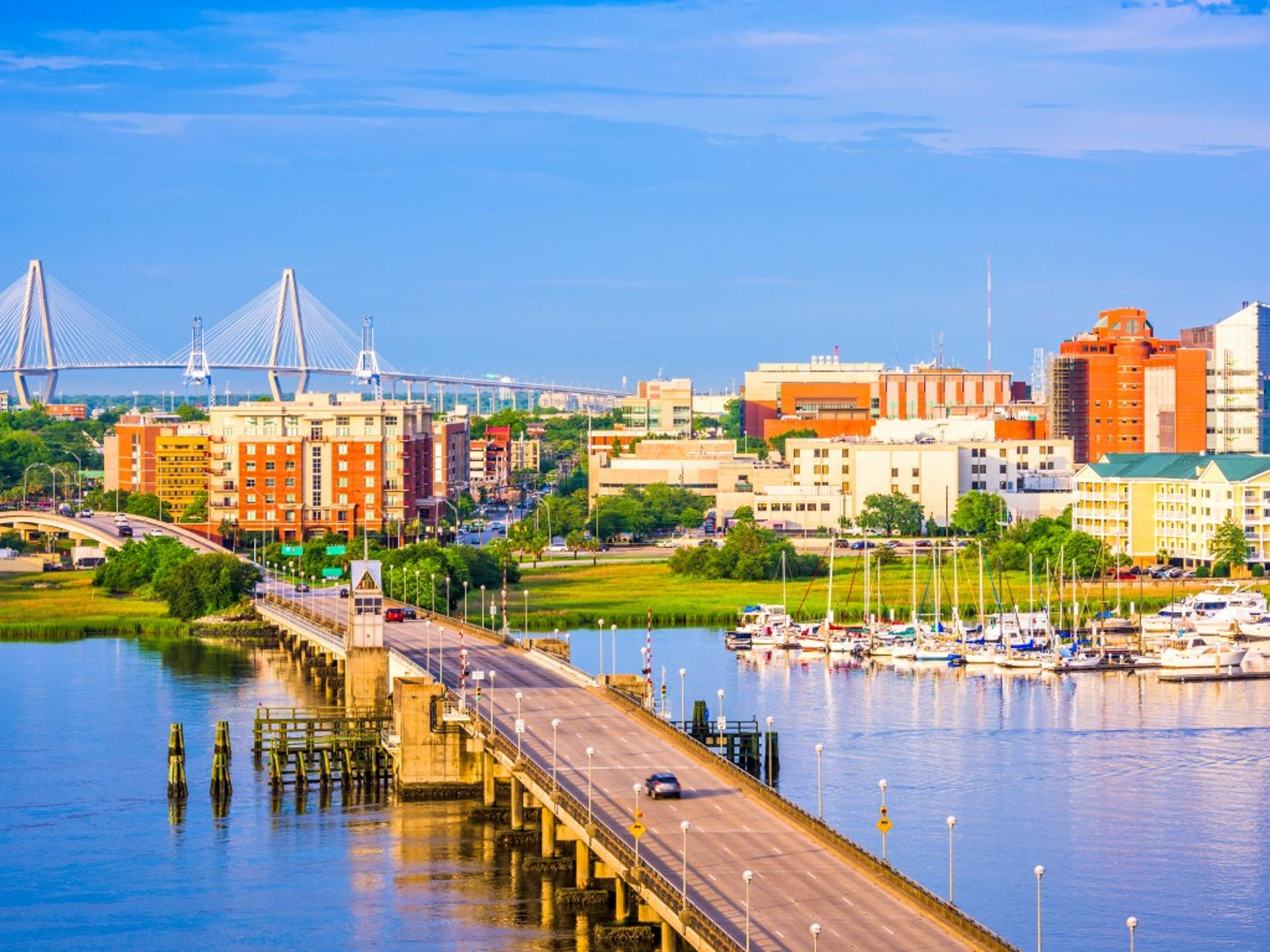 12. Charleston, SC     • Total properties at risk of hurricane damage:  155,740     • Reconstruction cost value of properties:  $40.9 billion     • Metro area population:  787,643     • Recent severe hurricane:  Hugo (1989) The Charleston-North Charleston metropolitan area is home to more than 787,000 people, one of the state's largest urban areas. Many long-term residents of the coastal city know first-hand just how damaging a serious hurricane can be. Hurricane Hugo -- the eye of which passed slightly north of Charleston Harbor in 1989 -- caused more than $7 billion in total damages and destroyed 26,000 homes across the Carolina Lowcountry.     ALSO READ: Cities With the Best Weather