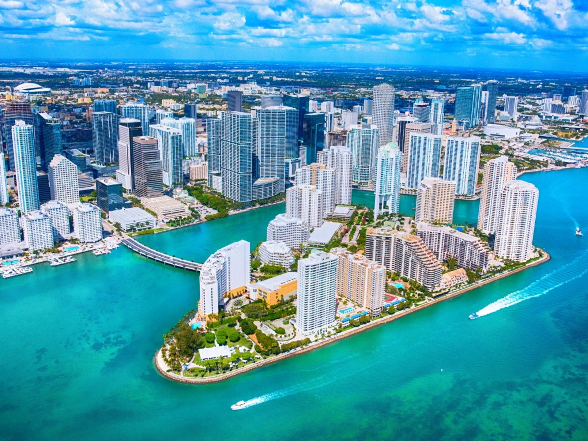 1. Miami, FL     • Total properties at risk of hurricane damage:  791,775     • Reconstruction cost value of properties:  $157.7 billion     • Metro area population:  6.2 million     • Recent severe hurricane:  Andrew (1992) Of all U.S. metropolitan areas, Miami has the most homes at risk of flooding from a hurricane, with more than 791,000 vulnerable properties. The area's risk will continue to increase as its population grows and developers continue to build along its 20 miles of coastline.  Despite its coastal location in Southeast Florida, Miami has avoided a serious encounter with a hurricane for many years. Historically, it has not been so lucky. In August 1992, Hurricane Andrew hit South Florida as a Category 5 storm with wind speeds of 165 miles per hour. There 26 people killed, more than 25,500 homes were destroyed, and over 100,000 additional homes were damaged, while 250,000 people were displaced. The results could be much worse were a similar storm hit the area today.