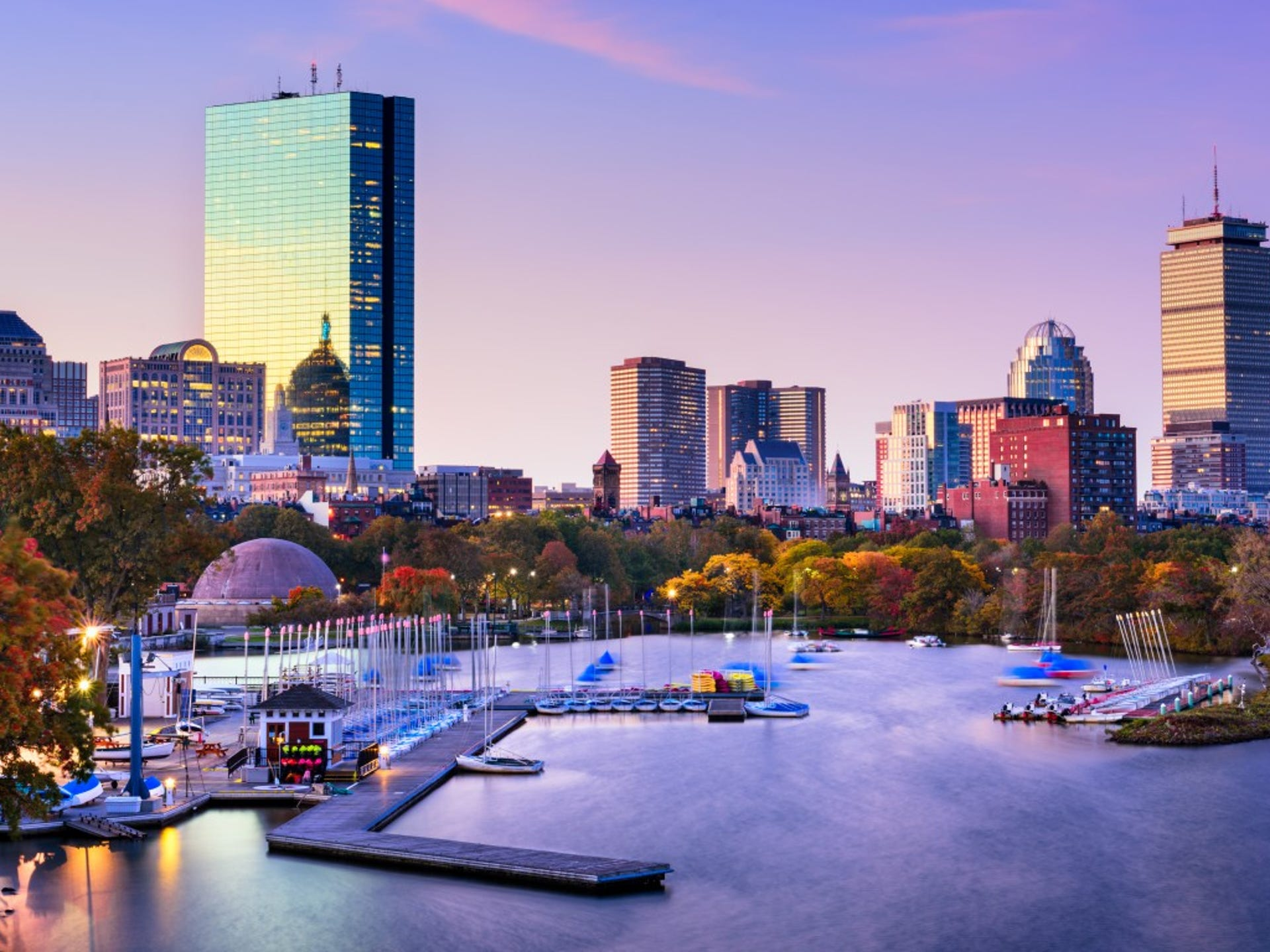 14. Boston, MA     • Total properties at risk of hurricane damage:  126,196     • Reconstruction cost value of properties:  $34.9 billion     • Metro area population:  4.9 million     • Recent severe hurricane:  Bob (1991) Though Boston may not immediately spring to mind when thinking of hurricanes, the city's proximity to the Atlantic Ocean and high population density make it especially susceptible to damage from serious storms. In August 1991, Hurricane Bob caused $1.5 billion in damages across New England. The densely populated Boston metro area now has more than 126,000 homes at risk of significant damage from a storm surge.     ALSO READ: The Best and Worst Prepared States for Weather Emergencies