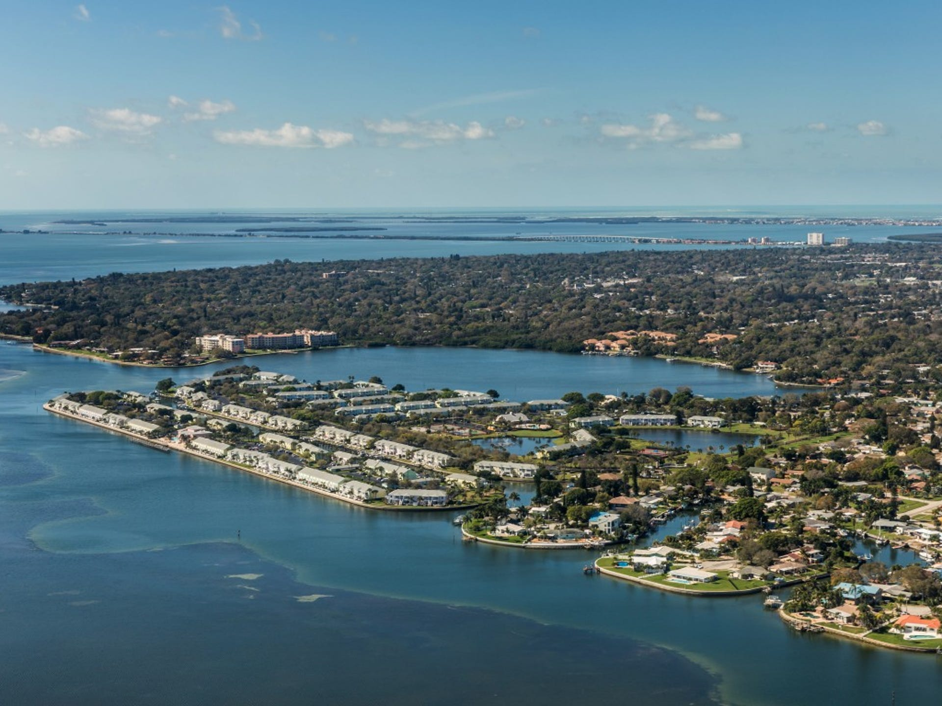 8. Bradenton, FL     • Total properties at risk of hurricane damage:  262,745     • Reconstruction cost value of properties:  $53.8 billion     • Metro area population:  821,573     • Recent severe hurricane:  Hermine (2016) Bradenton, Florida, which together with Sarasota forms the Sarasota metropolitan area, is located on Florida's western coast, just south of Tampa Bay. The area managed to avoid major damage during Irma, but more than a quarter-million homes remain at risk of flooding. Bradenton is also susceptible to flooding from the Manatee River, which runs alongside it.     ALSO READ: America's Richest Beach Towns