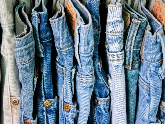 When it comes to yard work or household chores, just a plain old pair of blue jeans is perfect.