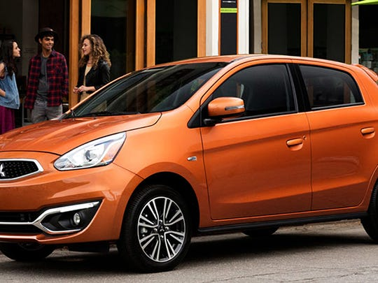 1. Mitsubishi Mirage     • Curb weight:  2,018 pounds     • Trim:  ES Hatchback 4D     • Horsepower:  78 HP     • Fuel economy (combined):  36 MPG    ALSO READ: Cars That Have Been Completely Redesigned for 2020