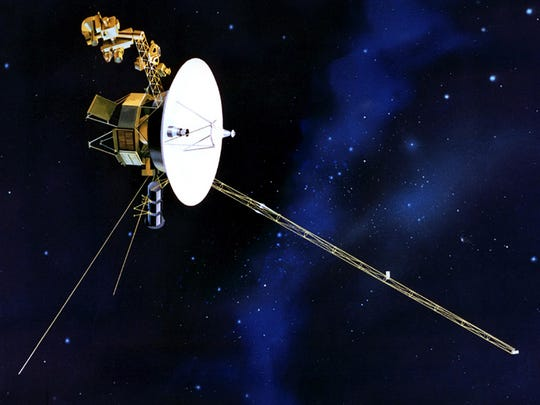 48. Voyager heads into interstellar space     • Date:  April 25, 2012 Voyager 1, launched on Sept. 5, 1977, when Jimmy Carter was president, became the first spacecraft to reach interstellar space.     ALSO READ: Reasons Why Scientists Think There Is Life on Other Planets