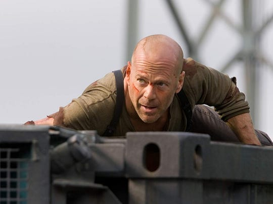 "Bruce Willis in ""Live Free or Die Hard."" The action star sold his Westchester estate in 2019."