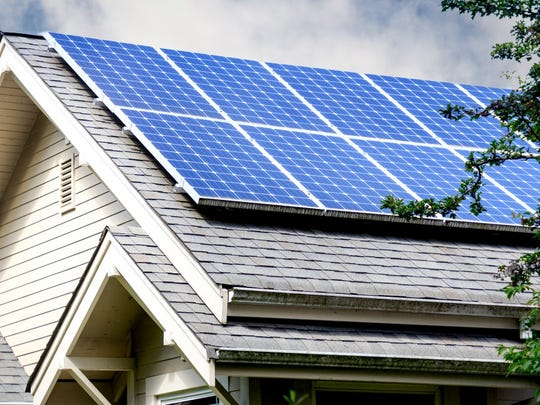 Tesla developed entire roofs made of solar panels.