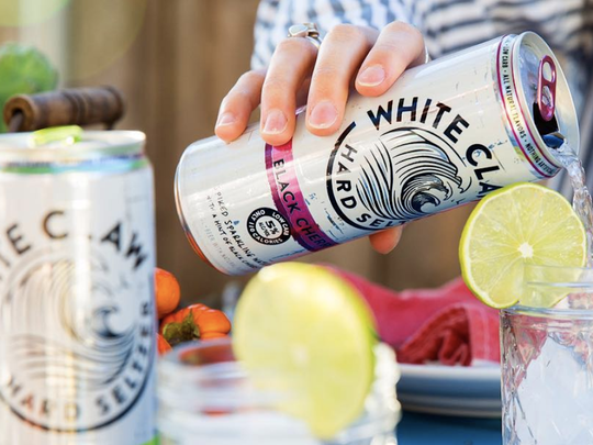 Sample spiked seltzer in Old Town on Saturday, Jan. 18 at the Scottsdale White Claw Crawl.