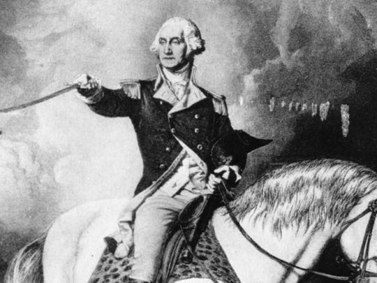 George Washington (1732-1799) commanded the Continental Army during the American Revolutionary War and was the first president of the United States of America.