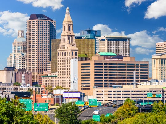 10. Connecticut   • Taxes paid as pct. of income:  10.6%   • Income per capita:  $72,213 (the highest)   • Income tax collections per capita:  $2,227 (3rd highest)   • Property tax collections per capita:  $3,020 (3rd highest)   • General sales tax collections per capita:  $1,185 (19th highest)