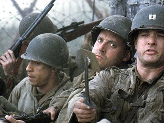 "A scene from ""Saving Private Ryan."""