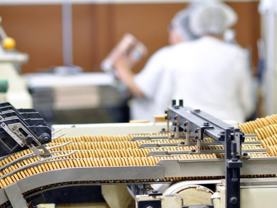 Stock photo of food manufacturing via Getty Images