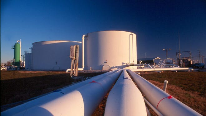 This is the Kinder Morgan natural gas storage facility in Dayton, Texas.