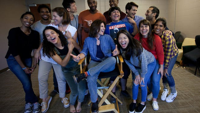 The 2017 ABC Discovers Los Angeles Talent Showcase including Indio native Lincoln Castellanos, in center wearing blue T-shirt.
