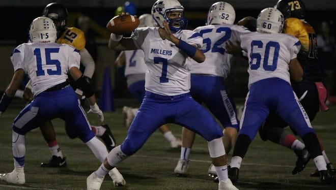 Millburn senior quarterback Peter Serruto will lead the Millers offense one more time Thursday.