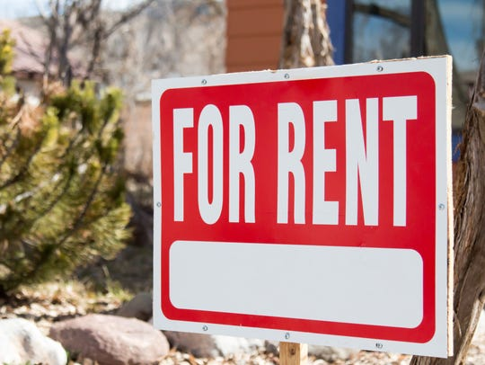 """For rent"" sign."
