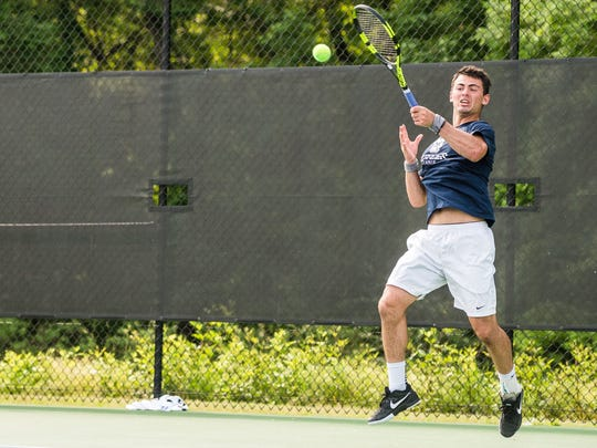 Mason Dragos will try to make it a perfect six-for-six in men's singles finals appearances in the News Journal/Richland Bank/matchmatetennis.com Tennis Tournament.