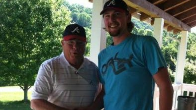 Tuscola alum Tyler Brosius, right, signed with the Atlanta Braves organization following the 2013 major league draft.
