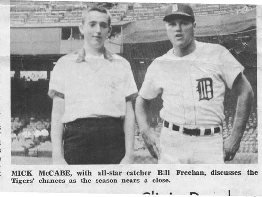 A young Mick McCabe, who had a summer job at Tiger