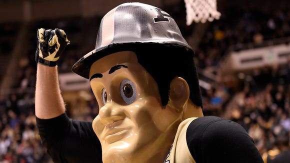 Q: Who has a larger head, me or Purdue Pete? A: Him, but only because he can't take off the helmet.
