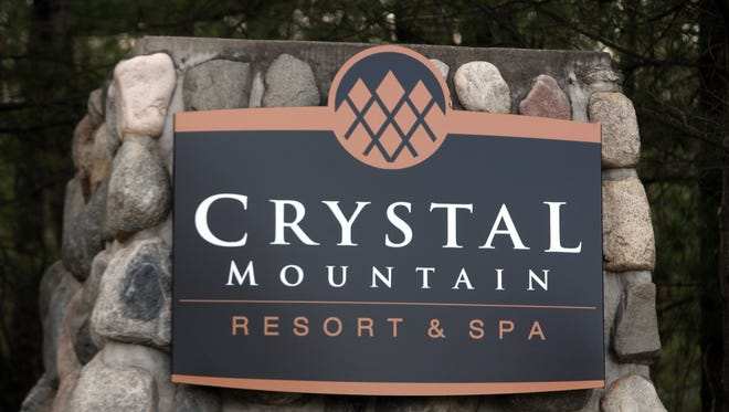 The sign at Crystal Mountain Resort and Spa, Monday, April 5, 2010.