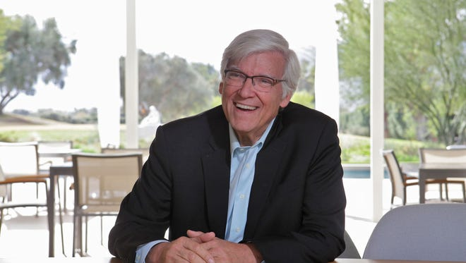 Geoffrey Cowan, outgoing president of the Annenberg Foundation Trust, talks about his life and accomplishments at Sunnylands on December 9, 2015.