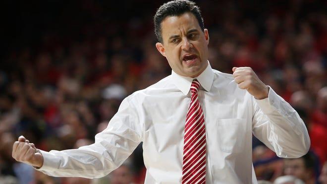 Arizona head coach Sean Miller.