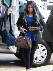 Tyka Nelson, sister of the late Prince, arrives at