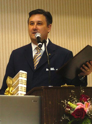 Brent Caplan speaks at the Central Louisiana Chamber of Commerce's annual meeting in 2006. Caplan, who passed away Wednesday, was president of the Chamber board in 2007, one of his many community involvements.