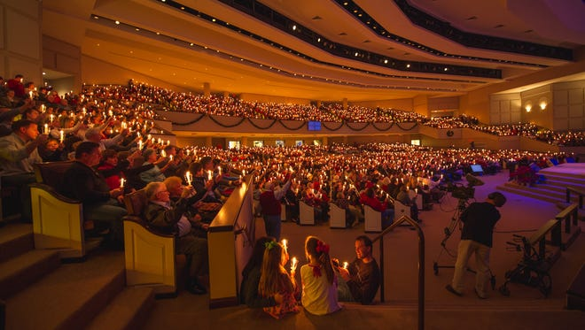 More than 4,500 worshippers attend Brentwood Baptist Church's Christmas Eve candlelight services. Ministers there say they employ a number of methods to keep the large church from being impersonal.