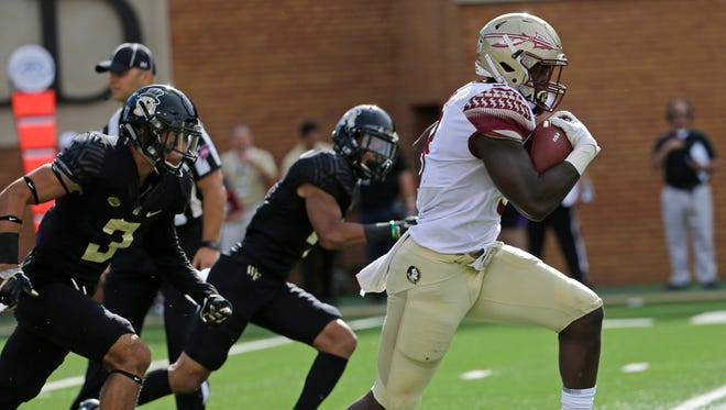 Florida State junior tailback Jacques Patrick ran for 120 yards and a touchdown during the Seminoles 26-19 victory over the Demon Deacons on Saturday afternoon at BB&T Field.