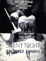 "A poster advertises ""Silent Night, Deadly Night."""