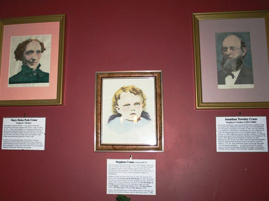 Portraits of young Stephen, his parents, Agnes and other significant family members adorn the walls of the Crane House front parlor; the tight-lipped Victorian-era faces gaze sternly upon visitors to the house—and allegedly register their occasional disapproval with the drop of a fireplace poker or crash of a framed picture.