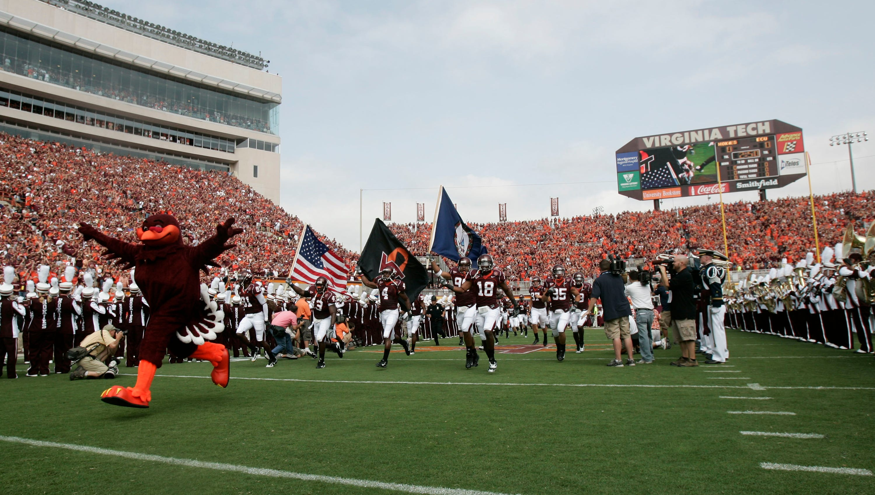 Lane Stadium, Virginia Tech: Hokies fans explode with the blasting of Enter Sandman on the speakers right before the home team takes the field and don't let up throughout the game.