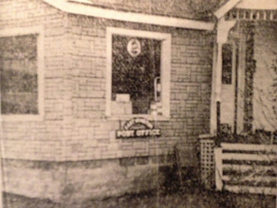 The East Windsor Post Office on the Dickinson porch