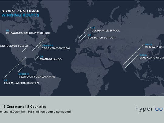 Hyperloop One is looking at metropolitan areas around
