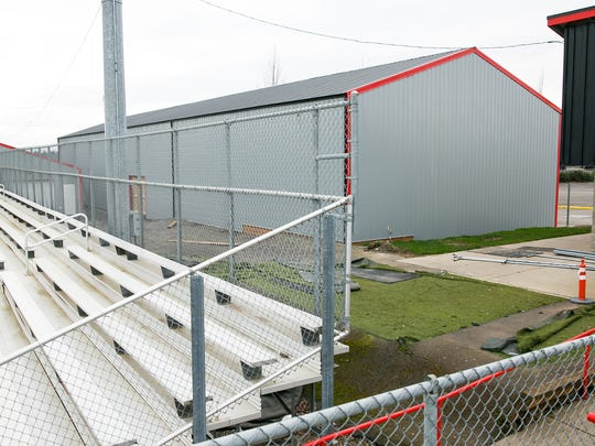 The Volcanoes Indoor Training Facility sits behind