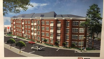 The Lakeside Commons project would replace the Salvation Army building on Wanaque Avenue with this four-story residential apartment building.