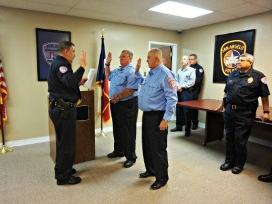 San Angelo Police Department holds swearing in ceremony