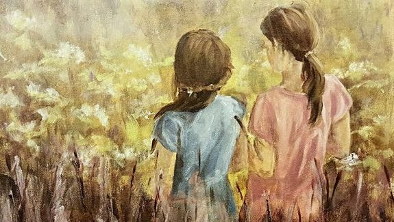 """""""Girls in Field"""" by Rachel Hudnall"""