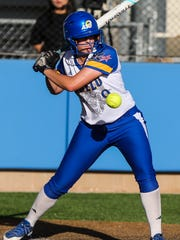 Courtney Barnhill is one of a number of talented hitters for Angelo State University.