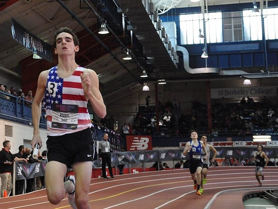 Bronxville's Matt Rizzo pulls away from the pack during